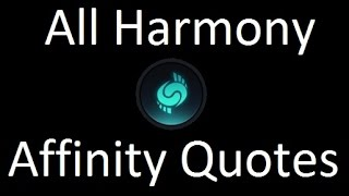 Civilization Beyond Earth All Harmony Affinity Quotes / Levels