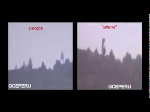 GIANT ALIENS CAUGHT ON TAPE IN PERU extraterreste  gigante filmado en peru