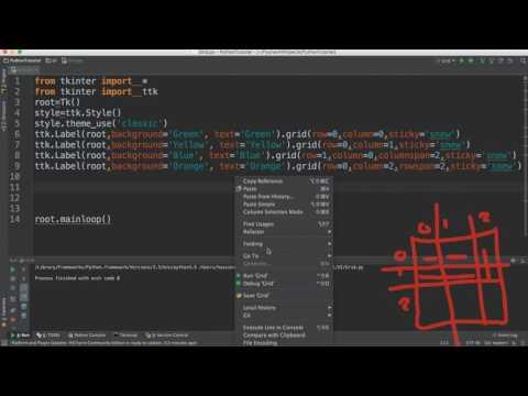 46- Python GUI || Grid- الشبكة