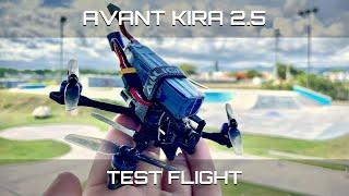 "Avant Kira 2.5"" micro freestyle quad test flight at a local park. DVR Foootage"
