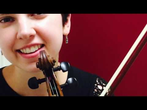 This is a violin basics video that teaches beginning skills of holding the violin, bow, and an easy song.
