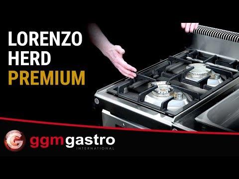 Gasherd GHB  PREMIUM - Serie Lorenzo - GGM Gastro