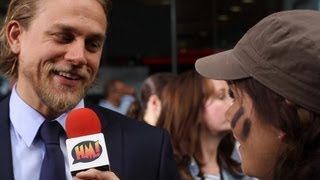 Чарли Ханнэм, Pacific Rim London premiere - we chat to the stars about giant robots and nudity