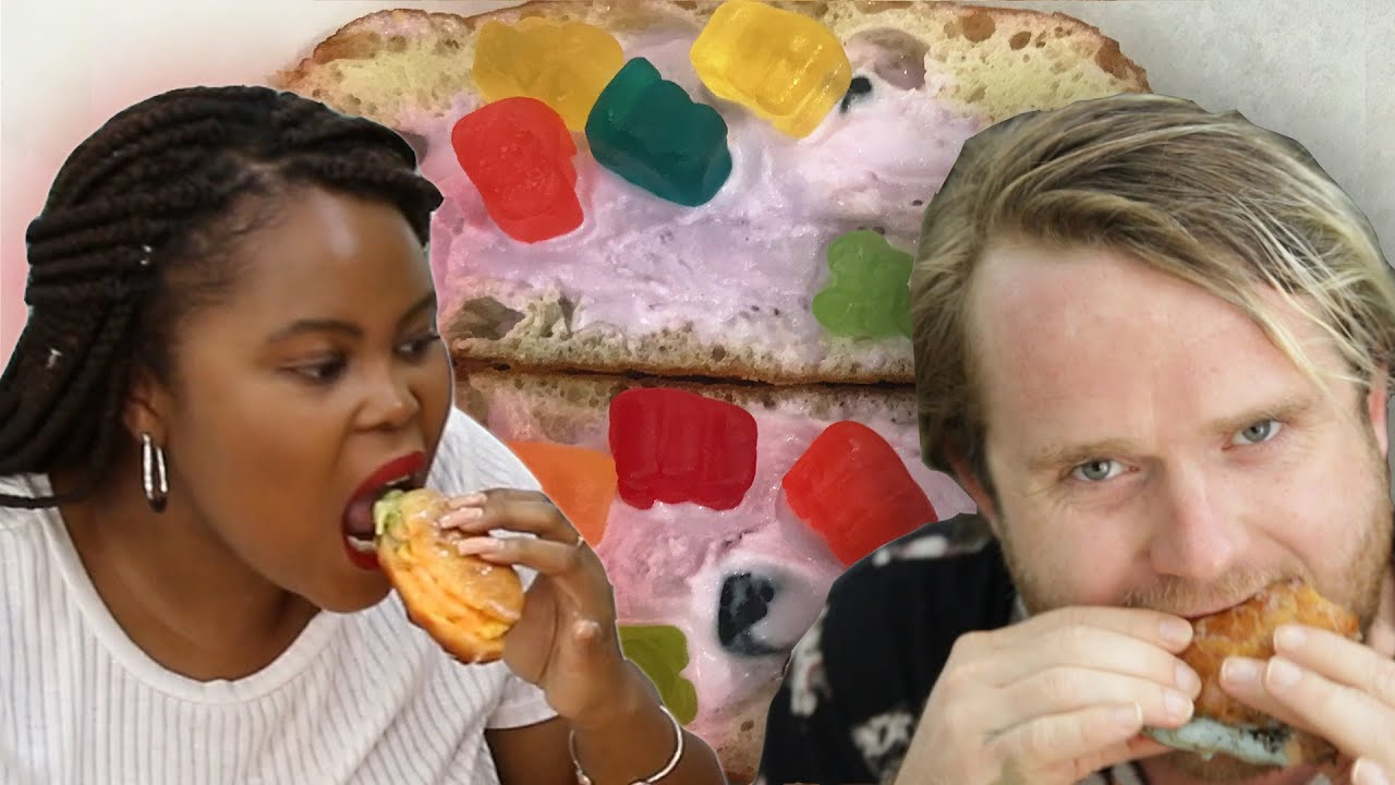 People Try Stuffed Ice Cream Donuts thumbnail