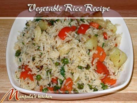 Vegetable Rice (Pulav) Recipe by Manjula