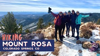Hiking Mount Rosa in Winter the Long Way via Gold Camp