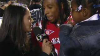 Ole Miss Celebrates Upset Win Over LSU