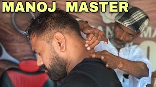 Manojmaster head massage | Neck cracking | ASMR | Indianbarber | Indianmassage #Manojmaster