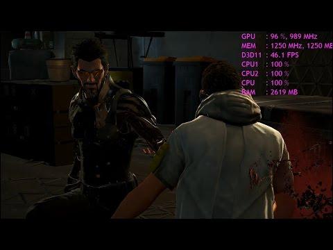 Deus Ex: Mankind Divided Benchmark- Dual core(Pentium G3220),4 GB