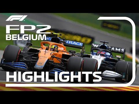 F1 第12戦ベルギーGP(スパ・フランコルシャン)FP2のハイライト動画