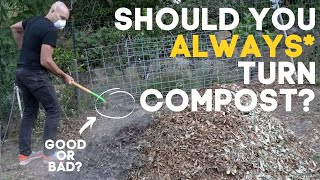 Turning Composting Might Be a Waste of Time (AND WRONG)*