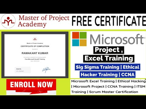 Master of Project Academy Free Online Course   Microsoft Project ...