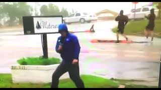 ACTUAL Fake News: Reporter Caught Exaggerating Hurricane