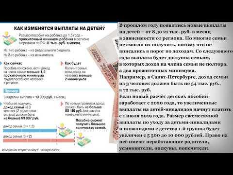 Как изменятся Выплаты на Детей после послания Путина