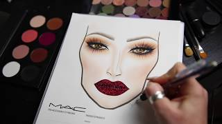 Facechart & Glitter Lip Tutorial | cassieeMUA