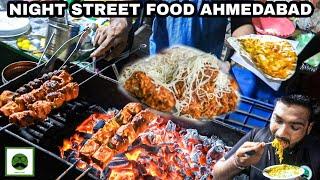 Night Street Food Tour of Ahmedabad with Veggiepaaji | Cheese Frankie, Maggi Pakoda,  & More