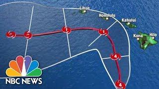 Lane: Worst hurricane since 1992 lashing Hawaii now; NBC news live tracker