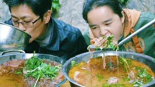 5 pounds of old duck, with sour radish, 2 people can't stop eating, until it is dark, cool!