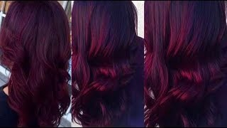 How To Color Your Hair Burgundy  At Home | Quick & Effortless