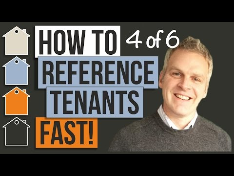 How To Reference Tenants FAST! | Property Business Basics and Property Management With Tony Law