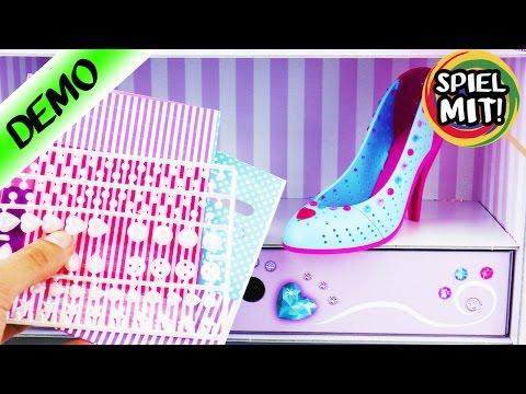 SCHUHE designen | I love Shoes mit Glitzer und Herzchen | Ravensburger Set inkl. Schuh Regal