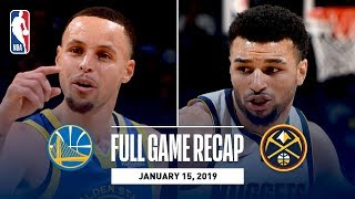 Full Game Recap: Warriors vs Nuggets | Curry, Thompson, & Durant Combine For 89