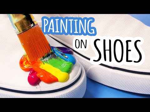 painting on my shoes cool hack