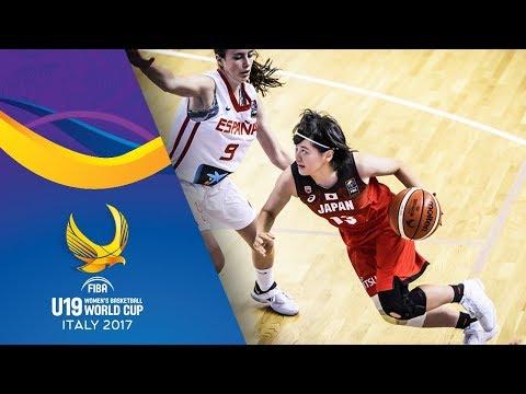 Spain v Japan - Full Game - Quarter-Final - FIBA U19 Women's Basketball World Cup 2017