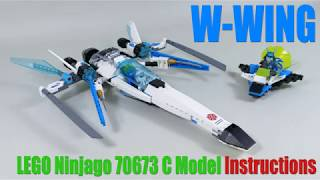 W-Wing Instructions -LEGO Ninjago 70673 Alternate build