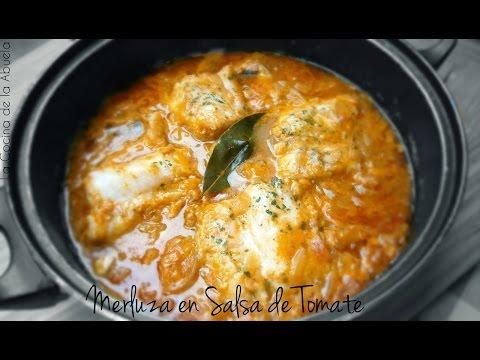 Merluza en Salsa de Tomate   La Cocina de la Abuela