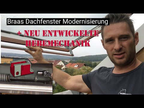Braas Dachfenster Modernisierung und reparatur Hebemechanik NEU ENTWICKELT