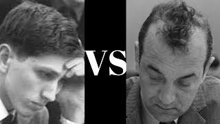Amazing Chess Game: Bobby Fischer's Fischer Sozin Attack Vs Korchnoi's Sicilian   Candidates 1962