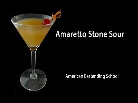 Amaretto Stone Sour Cocktail Drink Recipe