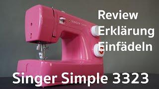SINGER Simple 3223 Review, Erklärung einfädeln