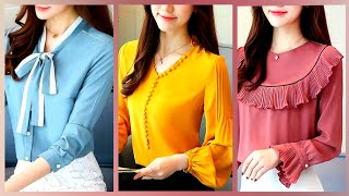 Chiffon New Womens Top Shirts And Blouses For Casual Summer Wear/best New Tops For Girls