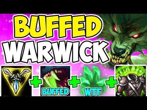 HEALS MORE THAN SORAKA NOW!! Warwick Q Heal Buffs Bruiser Tank AD Build Top League Of Legends S9