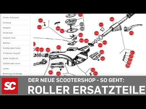 Motorroller Ersatzteile über Explosionszeichnugen finden - der neue Scooter Center Shop