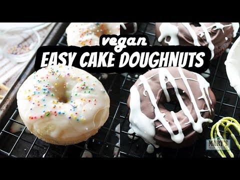 EASY VEGAN CAKE DOUGHNUTS | Recipes by Mary's Test Kitchen