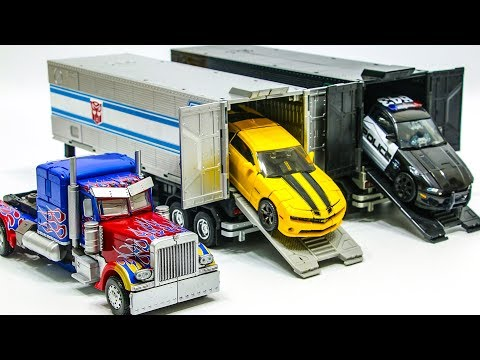 Transformers Movie MasterPiece Bumblebee Optimus Prime Barricade Truck Police Vehicle Car Robot Toys