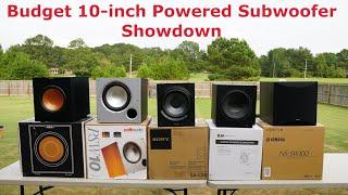 Budget Amazon 10-inch Subwoofer Showdown: Polk, Klipsch, Elac, Yamaha, Sony