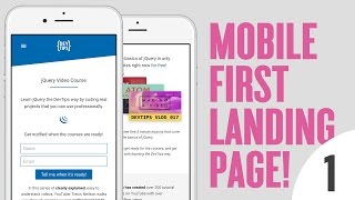 Design & Code a Mobile First Landing Page! (1/4)