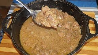 Обалденная луковая подлива с  мясом-вы влюбитесь в этот рецепт)