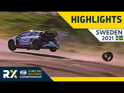 世界ラリークロス 第2戦スウェーデン(ホーリエス)2021年 RX1クラスの決勝ファイナル+セミファイナルのハイライト動画