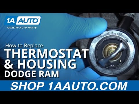 How to Install Replace Thermostat and Housing 2008 Dodge Ram 5.7 L Hemi BUY AUTO PARTS AT 1AAUTO.COM
