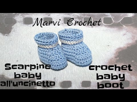 Tutorial Baby Scarpine Alluncinettocrochet Baby Booties