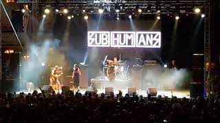 Subhumans - Minority / Mickey Mouse is dead (Live am 03.08.2018 Rebellion Festival Blackpool)