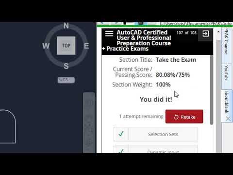 AutoCAD Certified Professional Practice Exam Demo - YouTube
