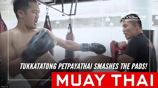 Muay Thai | Tukkatatong Petpayathai Smashes The Pads!
