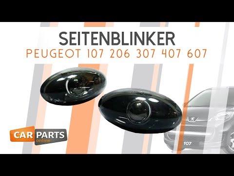 ✖️ KLARGLAS SEITENBLINKER✖️  SCHWARZ CHROM ✖️ Peugeot 107 206 307 407 607 ✖️