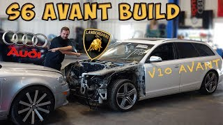 Building a Audi S6 Avant V10 5.2! Started as Wrecked Audi A6 from Copart! (Part 1)